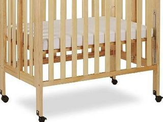 Dream On Me 3 in 1 Portable Folding Stationary Side Crib  Natural  POSSIBlY MISSING HARDWARE