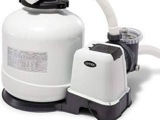 Intex Krystal Clear Sand Filter Pump for Above Ground Pools  16 inch  110 120V with GFCI  POSSIBlY MISSING PARTS