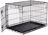 AmazonBasics Single Door Folding Metal Dog Crate   Medium  36x23x25 Inches