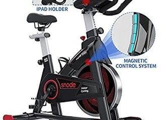 SNODE Indoor Cycling Bike   Magnetic Stationary Bike  Exercise Bike with Tablet Holder  lCD Monitor for Professional Cardio Workout  Indoor Home Cardio Exercise Training