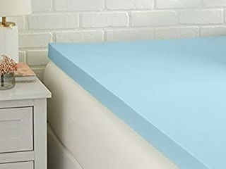 TWIN SIZE   COOlING GEl INFUSED MEMORY FOAM TOPPER  CERTIPUR US CERTIFIED  3 INCH