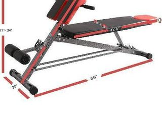 Finer Form UPGRADED Multi Functional Bench for Full All in One Body Workout a Hyper Back Extension  Roman Chair  Adjustable Ab Sit up Bench  Decline Bench  Flat Bench