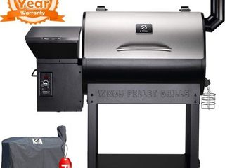 Z GRIllS ZPG 7002E 2019 New Model Wood Pellet Smoker  8 in 1 BBQ Grill Auto Temperature Control  700 sq inch Cooking Area  POSSIBlY MISSING PIECES