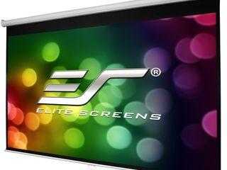 Elite Screens Manual B Series  100 inch Diagonal 16 9  Pull Down Projection Screen w  Auto lock  Model  M100H