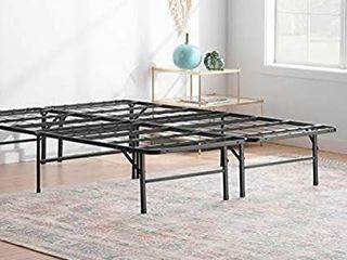 linenspa 14 Inch Folding metal platform Bed Frame   QUEEN