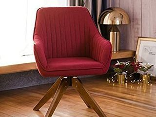 Art leon Mid Century Modern Swivel Accent Chair Cardinal Red with Wood legs Armchair for Home Office Study living Room Vanity Bedroom