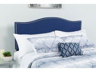 Flash Furniture lexington Upholstered FUll SIZE Headboard with Decorative Nail Trim in Navy Fabric