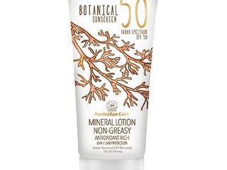 EXP  04 2019 Australian Gold Botanical Mineral Sunscreen Broad Spectrum SPF 50   lOTION