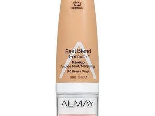 Almay My Best Blend Forever Makeup   Moisturizer 140 Beige   1 fl oz