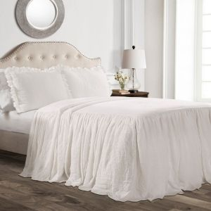 lush Decor Ruffle Skirt Bedspread Set  Retail 84 49