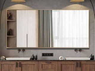 Modern Aluminum Alloy Thin Framed Full length Floor Mirror  Retail 348 49