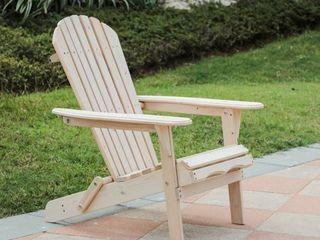 Natural Wood Adirondack Chair  Retail 94 99