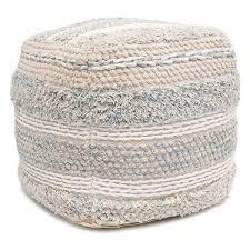 Pasargad Home Grand Canyon Cotton Pouf  Retail 215 75