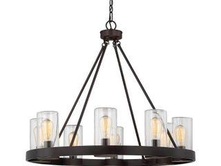 Carbon loft louis English Bronze 8 light Outdoor Chandelier  Retail 441 99