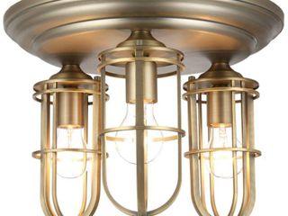 Feiss Urban Renewal 3   light Urban Renewal Flushmount  Dark Antique Brass  Retail 338 90