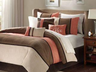 Queen Madison Park Hanover 7 piece Comforter Set  Retail 122 33
