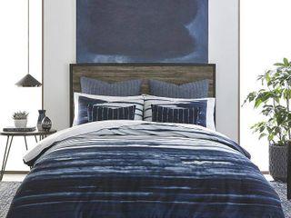 IZI Shibori Print Navy Cotton Comforter Set  Retail 147 43
