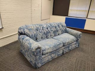 Blue and white 3 Seat Couch