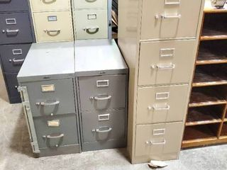 lot of 3 Metal Filing Cabinets