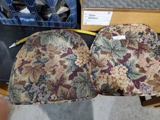 Two Floral Seat cushions