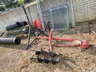 large 3 Point Auger with Stand