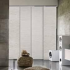 GoDear Design Metallic luster Blackout Natural Woven Adjustable Sliding Panel  45 8  86  W x 96  l  Retail 161 49