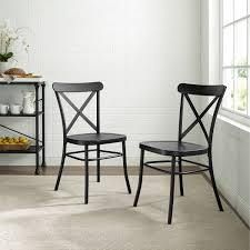 Carbon loft Childeric Matte Black 2 piece Dining Chair  Retail 137 99