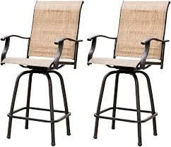 51  Wrought Iron Swivel Bar Chair Patio Swivel Bar Stools 2pcs  Retail 259 99 brown frame