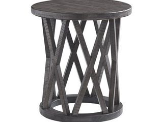 Sharzane Casual Grayish Brown Round End Table  Retail 149 49