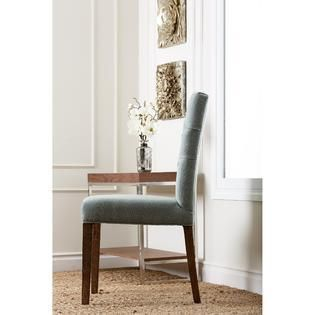 Abbyson Colin Seafoam Blue linen Tufted Dining Chair  Retail 176 35