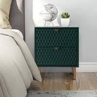 Fully Assembly Side Table With Storage  Retail 258 49 gloss green