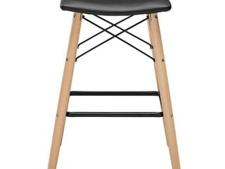 Carson Carrington Fallenas Black Faux leather Seat Counter Stool  Retail 92 49