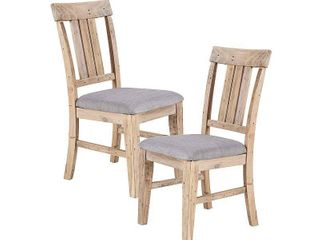 INK IVY Sonoma Natural Grey Dining Side Chair  Set of 2    20 w x 24 5 d x 39 75 h  2  Retail 312 49