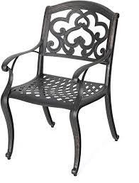 Austin outdoor cast aluminum chairs shiny copper 2 pc