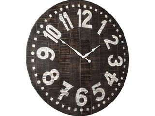 Brone Black White Wood Vintage Wall Clock   39  x 39  Retail 158 49