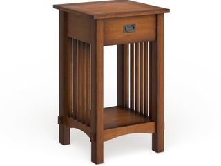 Furniture of America Skiff Mission Hand rubbed Oak Finish Wood End Table   15 75 W X 15 75 D X 26 H  Retail 149 49