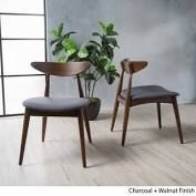frankie mid century dining chairs set of 2 charcoal