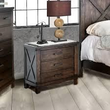 The Gray Barn Epona Rustic Dark Walnut 3-drawer Nightstand Retail:$331.54