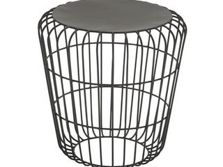 Decmode   Small Indoor Outdoor Industrial Style Accent Table with Birdcage Silhouette  All Weather Patio Furniture  Stylish Party Side Table  Spring Summer Outdoor Furniture  17a x 18a