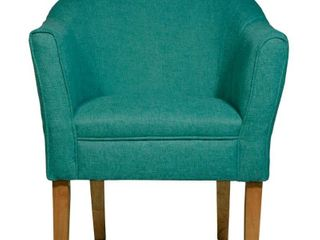 Porch   Den Kingswell Teal Chunky Textured Accent Chair  Retail 146 49