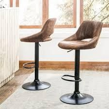 Art leon Modern Adjustable 360 Swivel Barstool with Retro PU leather  Retail 159 99 brown