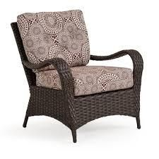 wicker club chair only curved brown