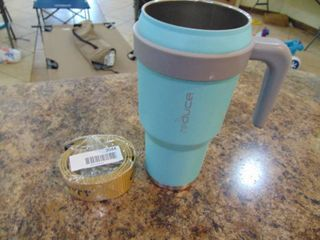 Magellan Coffee Cup and Carhart Belt