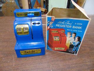Vintage Register Bank   Box top is off