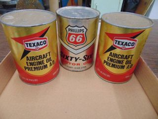 Texaco Aircraft Oil Cans and More