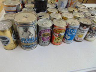 40  Vintage Beer Cans