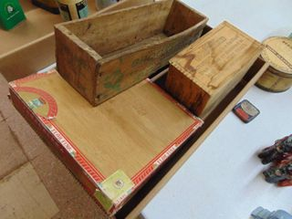 Swift and Wooden Cigar Boxes