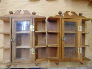 2 Small Knick Knack Shelves