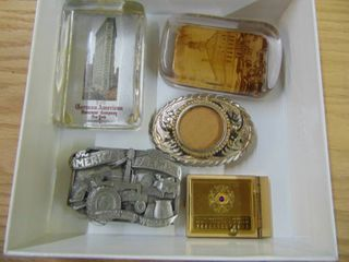 Paper Weights and Belt Buckles