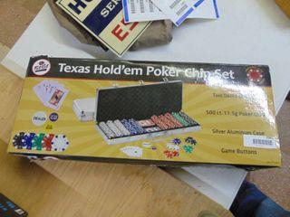 Texas Hold em Poker Chip Set